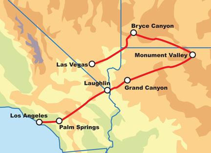 ROUTE 66 Z LOS ANGELES DO LAS VEGAS - SELF DRIVE