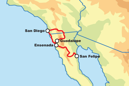MEXICKÁ BAJA CALIFORNIA - SELF DRIVE