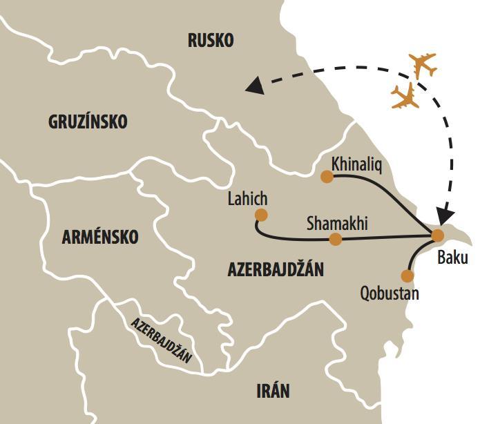 AZERBAJDŽAN - UNIKÁTNE SYMBOLY KRAJINY OHŇA
