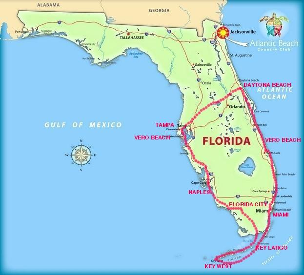 SLNEČNÁ FLORIDA -  MOTOCYKLOVÝ ZÁJAZD SO SLOVENSKÝM TÍMOM