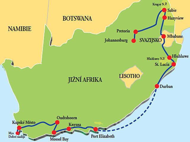 NAPRIEČ JUHOAFRICKOU REPUBLIKOU